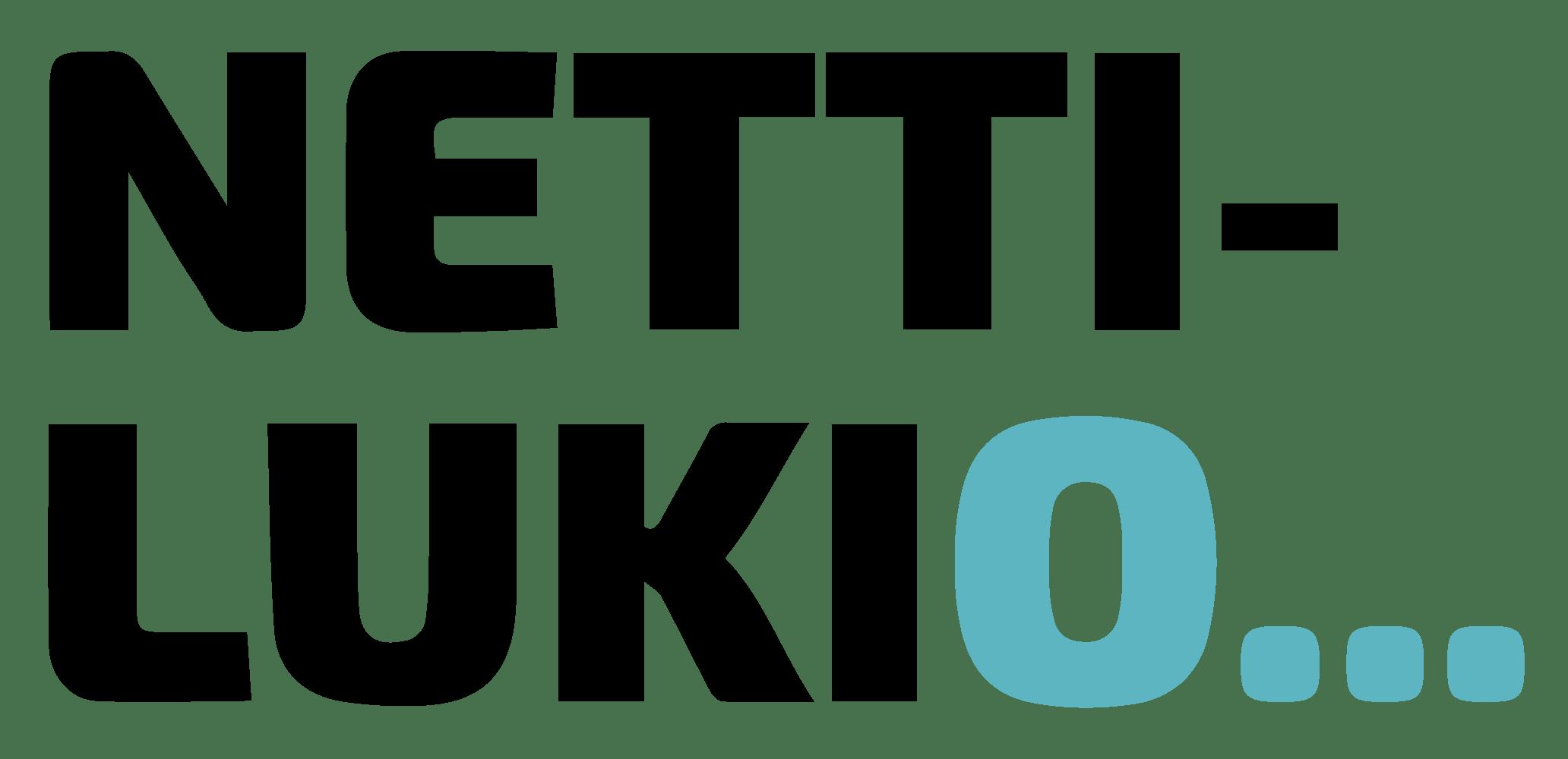 Nettilukion musta logo